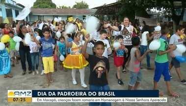 Círio de Nazaré no AP terá procissão e festividade para a população em geral - Crianças fazem romaria em Homenagem à Nossa Senhora Aparecida
