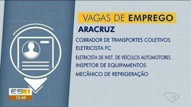 Confira as oportunidades de emprego no Sine de Aracruz - Saiba quais são as vagas disponíveis.