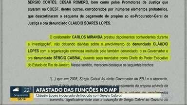 Ex-Procurador Geral de Justiça é afastado das funções no MP - Cláudio Lopes é acusado de ligação com o ex-governador Sérgio Cabral. Ele foi denunciado por corrupção.