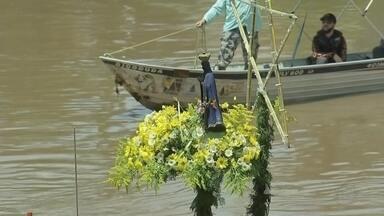 Fiéis participam da tradicional Romaria Náutica no Rio Tietê - Em Tietê, mais uma vez fiéis participaram da tradicional Romaria Náutica pelas águas do rio. Famílias inteiras participaram deste momento de oração e agradecimento.