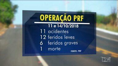 Operação 'Nossa Senhora Aparecida' registra uma morte nas rodovias federais do MA - Balanço da operação foi divulgado pela Polícia Rodoviária Federal.