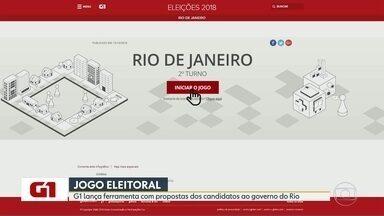 G1 lança ferramenta com propostas dos candidatos ao governo do Rio - Faltam menos de duas semanas para o segundo turno das eleições e o G1 lançou uma ferramenta para ajudar você eleitor a decidir com qual candidato ao governo mais se identifica.