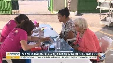 Mulheres podem fazer mamografia gratuita em Campinas - É uma ação da Federação Paulista de Futebol.