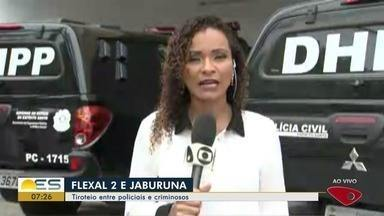 Noite de segunda (15) tem troca de tiros entre policiais e criminosos na Grande Vitória - Casos foram registrados nos bairros Jaburuna, em Vila Velha, e Flexal II, em Cariacica.