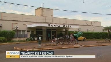 Casal suspeito de tráfico de pessoas é preso em Guaíra, SP - Segundo a Polícia Civil, suspeitos tentaram comprar um bebê recém-nascido.