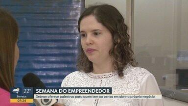 Semana do Empreendedor tem palestras e workshops gratuitos em Ribeirão Preto - Atividades acontecem até sexta-feira (19) no Sebrae.