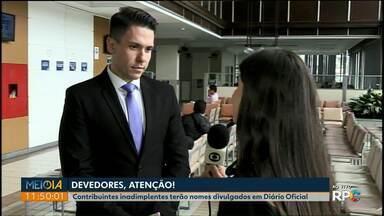 Prefeitura de Ponta Grossa vai divulgar nova lista de inadimplentes nesta quarta (17) - Lista será publicada no Diário Oficial do município.