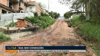 Moradores querem melhorias em rua da Vila 26 de Outubro em Ponta Grossa - Motoristas reclamam de prejuízos com conserto de veículos.