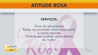 Evento Atitude Rosa conscientiza sobre o câncer de mama - Ação faz parte do alerta mundial contra a doença.