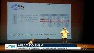Veja como será aulão preparatório para o Enem em Goiânia - Evento promovido pela TV Anhanguera ocorre no Teatro Sesi.