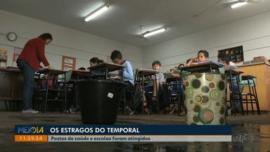 Serviços públicos de Londrina são afetados pelo temporal - Muitas escolas estão sem aulas hoje por causa da falta de energia e água. Postos de Saúde também estão com atendimento reduzido.