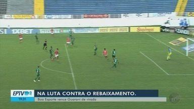 Boa Esporte vence o Guarani de virada no Melão e segue vivo na luta contra o rebaixamento - Boa Esporte vence o Guarani de virada no Melão e segue vivo na luta contra o rebaixamento