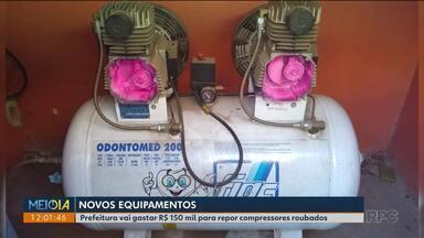 Após furtos, Prefeitura deve comprar novos compressores para postos de saúde - Esses aparelhos são fundamentais para atendimentos odontológicos.