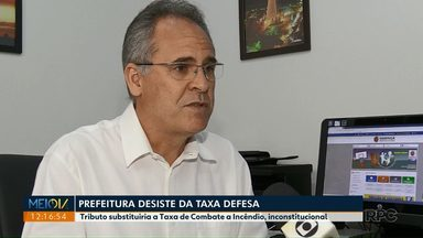 Prefeitura de Maringá desiste de criar Taxa Defesa - Tributo seria criado para substituir taxa que era repassada aos bombeiros