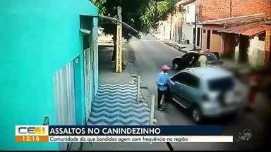 Comunidade diz que bandidos agem com frequência no Canindezinho - Saiba mais em g1.com.br/ce