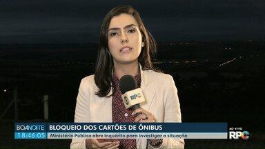 Em liminar, MP pede que Prefeitura desbloqueie cartões de transporte em Ponta Grossa - O Ministério Público abriu um inquérito para investigar o bloqueio de cartões de mais de 5 mil usuários do transporte em Ponta Grossa.