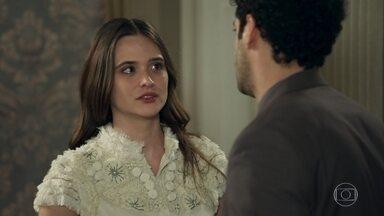 Emílio se declara para Marocas e é humilhado por ela - Ele contrata empregados domésticos para família Sabino Machado