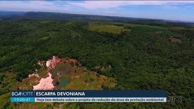 Especialistas debatem sobre projeto que prevê redução da APA da Escarpa Devoniana - O debate acontece no Instituto de Engenharia do Paraná.