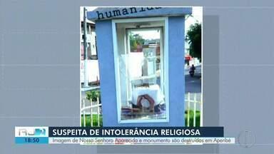 Imagem de Nossa Senhora Aparecida é vandalizada em Aperibé, no RJ - Bispo diocesano de Campos, Dom Roberto Ferrería, condenou o ato de vandalismo.