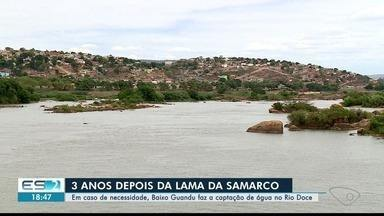 Baixo Guandu volta a fazer captação de água do Rio Doce, mas só em casos de necessidade - Isso acontece 3 anos depois de a lama da Samarco atingir o rio.
