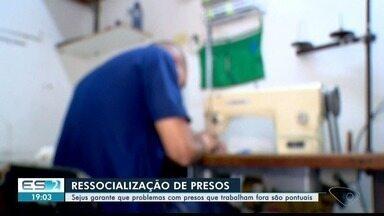 Confira como é feito o trabalho de ressocialização de presos no ES - No início do mês, criminosos invadiram um posto de saúde em Colatina a procura de detentos que trabalhavam lá.