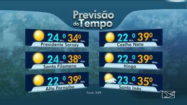 Veja as variações das temperaturas no Maranhão - Segundo a previsão do tempo a sexta-feira (26) em São Luís será marcada por sol com nuvens.
