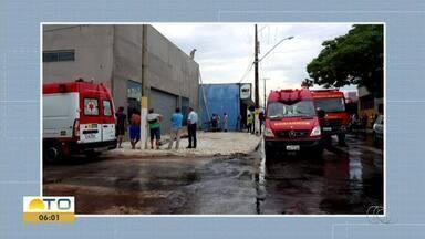 Homem fica ferido ao levar choque enquanto trabalhava no telhado de obra em Gurupi - Homem fica ferido ao levar choque enquanto trabalhava no telhado de obra em Gurupi