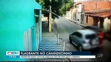 Polícia busca grupo flagrado durante roubo de carro no Canindezinho - Saiba mais em g1.com.br/ce