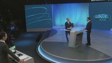 Globo promove debate entre os candidatos ao governo de São Paulo - As eleições serão neste domingo (28), por isso a TV Globo promoveu o último debate entre os candidatos ao governo do estado de São Paulo, João Doria (PSBD) e Márcio França (PSB).