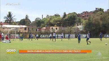 Equipe do Bahia viaja para São Paulo, onde enfrenta o Corinthians no sábado (27) - Tricolor fez último treino antes da partida na manhã desta sexta-feira (26), no Fazendão.