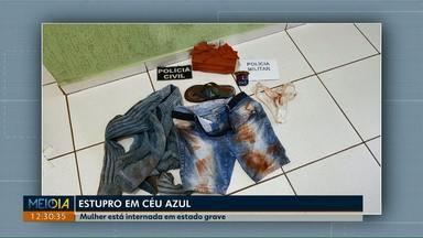 Vítima de estupro fica em estado grave e precisa de vaga em uma UTI - O suspeito do crime está preso na delegacia de Matelândia
