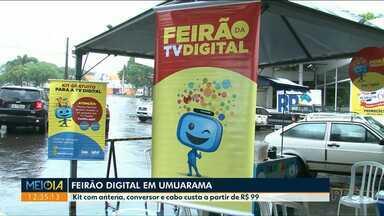 Sábado tem Feirão Digital e mutirão de instalação em Umuarama - O feirão vai até às 19h30, no Hiper Planalto. Já os instaladores ficarão em alguns bairros da cidade até as 17h.