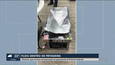 Fuzis na fritadeira - Homem que enviou armamento se apresenta à Polícia Federal.