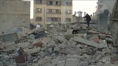 Israel faz ataques aéreos à Faixa de Gaza - Operação foi uma resposta aos foguetes lançados por palestinos em direção ao território israelense.