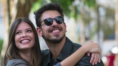 Começam as gravações do filme de Alain em Rosa Branca - Cris e Alain se emocionam e comemoram