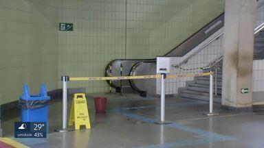 Passageiros reclamam da falta de manutenção no Metrô - Em várias estações do DF, as escadas rolantes e os elevadores estão parados. A direção do Metrô diz que está resolvendo os problemas.