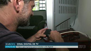 Sinal analógico será desligado em novembro - Saiba se você tem direito ao kit digital de graça.