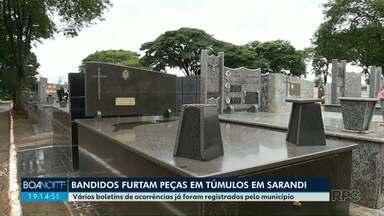 Bandidos furtam peças de metal do cemitério de Sarandi - Familiares estão tristes com tanto desrespeito.