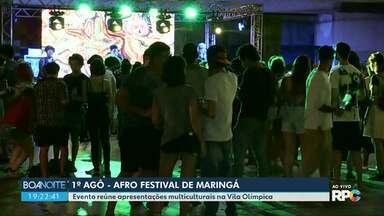 Primeiro Agô - Afro Festival é realizado em Maringá - O evento está sendo realizado na Vila Olímpica até às 22h.
