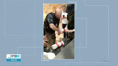 Polícia encontra explosivos não detonados em banco alvo de criminosos em Pedro Afonso - Polícia encontra explosivos não detonados em banco alvo de criminosos em Pedro Afonso