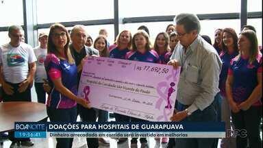 Corrida e caminhada arrecada recursos para Hospitais de Guarapuava - As instituições receberam mais de R$17 mil.