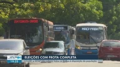 CTMac e sindicato fecham acordo em manter 100% da frota de ônibus para o segundo turno - A Companhia de Trânsito e Transporte de Macapá CTMac) fechou acordo com o Sindicato das Empresas de Transporte (Setap) em manter 100% da frota de ônibus para o segundo turno das eleições na capital amapaense.