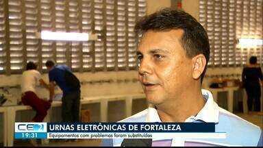 Urnas eletrônicas com problemas já foram substituídas, em Fortaleza - Saiba mais em g1.com.br/ce