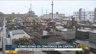 Força-tarefa prepara cemitérios de Florianópolis para Dia de Finados - Força-tarefa prepara cemitérios de Florianópolis para Dia de Finados