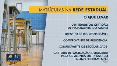 Período de matrículas e rematrículas de escolas estaduais começa nesta segunda (29) no RS - O prazo é 25 de novembro.