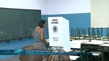 Quatro cidades de São Paulo escolheram também os prefeitos neste domingo (28) - Rincão, Araras, Monte Azul Paulista e Mongaguá tiveram eleições suplementares para escolher o novo prefeito.