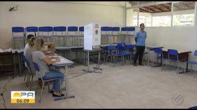Em Ananindeua, dia de votação também não teve filas - Houve reclamação de demora na leitura da biometria.