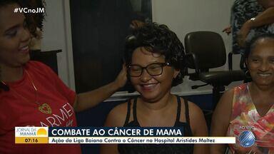Outubro Rosa: liga baiana contra o câncer realiza ação no Hospital Aristides Maltez - Outubro é um mês de alerta sobre a importância da prevenção ao câncer de mama.