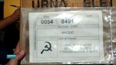 Símbolo usado por TRE em urna gera polêmica em Maceió - Denúncia de possível fraude.