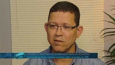 Coronel Marcos Rocha entrou no serviço público, em Rondônia, na década de 90 - Em 2013, assumiu a secretaria municipal de educação.